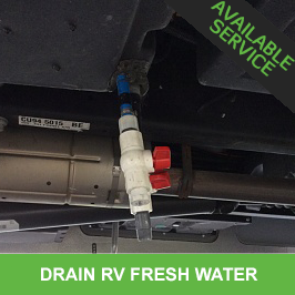 Drain RV Fresh Water