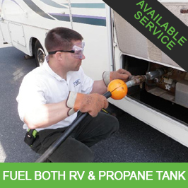 Fill RV with Gas & Propane